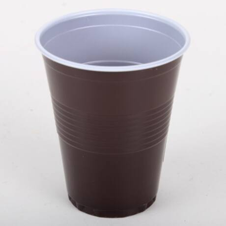 1,5 dl Barna-fehér műanyag pohár (100db)