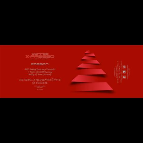 Karácsonyi ajándék kávé fémdobozban piros