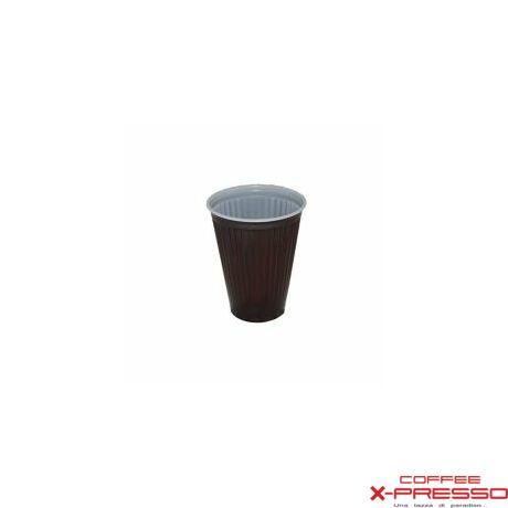 1,5 dl Barna-fehér műanyag pohár