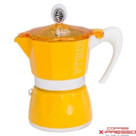 G.A.T. Bella kotyogós kávéfőző 3 csésze - Sárga