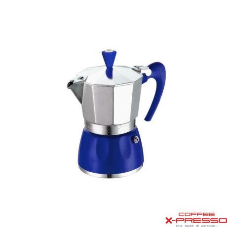 G.A.T. Delizia kotyogós kávéfőző 3 csésze - kék
