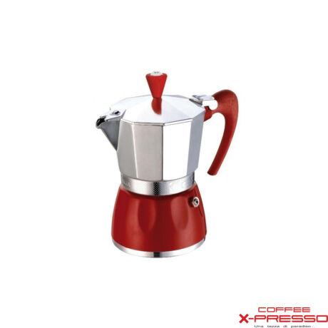G.A.T. Delizia kotyogós kávéfőző 3 csésze - piros