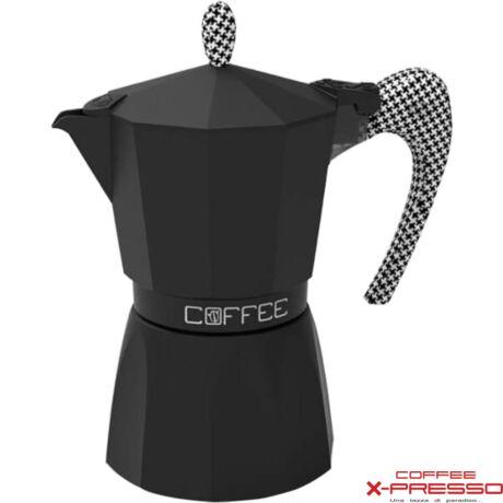 G.A.T. Fashion Black kotyogós kávéfőző 3 csésze - Tyúklábmintás